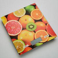 Весы кухонные DELTA KCE-52 ''фруктовый микс'', электронные, 5 кг, 1 гр, стекло, платформа