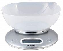 Весы кухонные SUPRA BSS-4022 серебристый, электронные, 5 кг, 1 гр, пластик, чаша