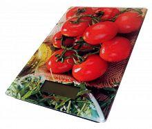 Весы кухонные SUPRA BSS-4205 ''помидоры'', электронные, 5 кг, 1 гр, стекло, платформа