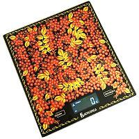 Весы кухонные Василиса ВА-004 ''рябина'', электронные, 5 кг, 1 гр, стекло, платформа