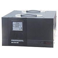 Стабилизатор напряжения РЕСАНТА АСН-5000/1-ЭМ, 5000Вт, электромеханический, цифровой, напольный, однофазный, min вход: 140 В, max вход: 260 В