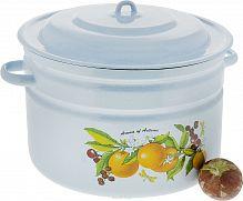 Бак 18 л С-28261/4, для пищевых продуктов, эмаль, цветной, Рисунок, крышка /г.Лысьва/