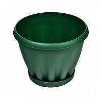 Горшок для цветов 3,9 л Знатный Мп303З, зеленый, поддон