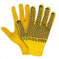 Перчатки рабочие х/б, ПВХ, 7 класс, желтый Кирпичи 4078 (1уп-5пар)