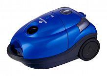 Пылесос EUROSTEK EVC-2201 синий, 2000 Вт (380 Вт), мешок 3 л., сухая уборка, регулятор мощности, телескопическая труба