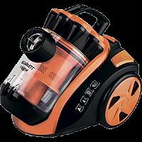 Пылесос SCARLETT SC-VC80C91 оранжевый, 1800 Вт, контейнер 2 л., сухая уборка, регулятор мощности, телескопическая труба