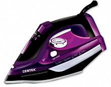 Утюг CENTEK CT-2327 фиолетовый, 2600 Вт, керамика, паровой удар, верт. отпаривание, разбрызгивание, самоочистка