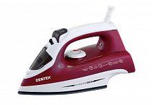 Утюг CENTEK CT-2349 красный, 2200 Вт, керамика, подача пара, паровой удар, верт. отпаривание, разбрызгивание, самоочистка