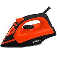Утюг DELTA DL-755 черный/оранжевый, 2200 Вт, керамика, подача пара, паровой удар, верт. отпаривание, разбрызгивание, самоочистка