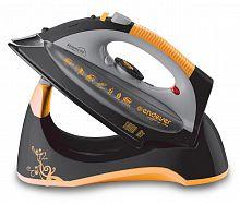 Утюг ENDEVER SkySteam-707 черный/оранжевый, 1800 Вт, керамика, подача пара 30 г/мин, паровой удар 130 г/мин, верт. отпаривание, разбрызгивание, самоочистка