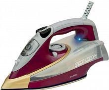 Утюг GELBERK GL-708 серебристый/фиолетовый, 2400 Вт, керамика, подача пара, паровой удар, верт. отпаривание, разбрызгивание, самоочистка