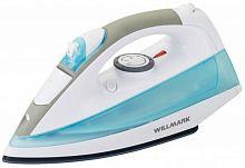 Утюг WILLMARK SI-2201CRB серый/голубой, 2200 Вт, керамика, подача пара, паровой удар, верт. отпаривание, разбрызгивание, самоочистка