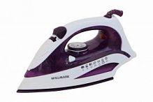 Утюг WILLMARK SI-2223CRP фиолетовый, 2200 Вт, керамика, подача пара, паровой удар, верт. отпаривание, разбрызгивание, самоочистка, автоотключение