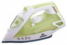 Утюг ДОБРЫНЯ DO-3109 белый/зеленый, 2200 Вт, керамика, подача пара, паровой удар, верт. отпаривание, разбрызгивание, самоочистка