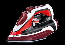 Утюг CENTEK CT-2352 белый/красный, 2200 Вт, антипригарная, подача пара, паровой удар, верт. отпаривание, разбрызгивание, самоочистка