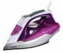 Утюг SCARLETT SC-SI30P05 фиолетовый, 2400 Вт, тефлон, подача пара 40 г/мин, паровой удар 120 г/мин, верт. отпаривание, разбрызгивание, самоочистка