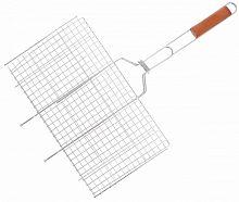 Решетка для барбекю, универсальная ЛИДЕР Мини 101315, эмаль, 29х19х1,8 см