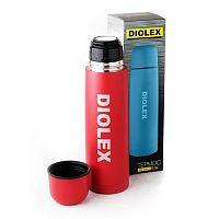 Термос 1 л Diolex DX-1000-2, пластик, колба нерж.сталь, узкое горло