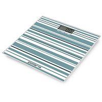 Весы напольные электронные POLARIS PWS-1854DG белый/бирюзовый, стекло, 180 кг