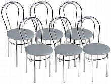 Стул Тюльпан круглое сиденье, круглая спинка, 4 опоры, кожзам, сталь