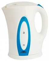 Чайник DELTA ЭЛЬБРУС-4 белый/синий, корпус: пластик, 2 л, 2200 Вт, спираль
