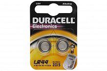 Батарейка алкалиновая DURACELL LR44-2BL, блистер, (1 уп - 2 шт), LR44, 105 mAh, 1,5 В