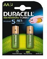 Аккумулятор никель-металлгидридный DURACELL Turbo HR06-2BL, блистер, (1 уп - 2 шт), АА, 2500 mAh, 1,2 В, предзаряженный