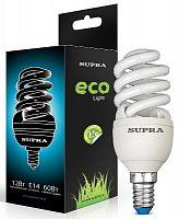 Лампа энергосберегающая SUPRA Премиум SL-S-FSP-15/4200/E14-N, 15 Вт (эквивалент 75 Вт), спираль, E14, 4000 К, холодный свет, 830 лм