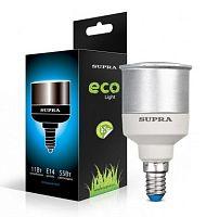 Лампа энергосберегающая SUPRA Премиум SL-R50-9/4200/E14, 9 Вт (эквивалент 45 Вт), рефлектор, E14, 4000 К, холодный свет, 200 лм