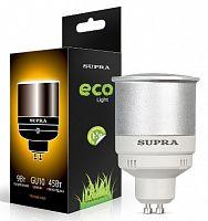 Лампа энергосберегающая SUPRA Премиум SL-R-9/2700/GU10, 9 Вт (эквивалент 45 Вт), рефлектор, GU10, 2700 К, теплый свет, 200 лм