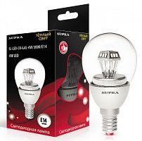 Лампа светодиодная SUPRA Кристалл SL-LED-CR-G45-4W/4000/E14, 4 Вт (эквивалент 40 Вт), шар, E14, 4000 К, холодный свет, 300 лм