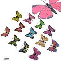 Бабочка декоративная без крепления / 0608-4 /6912-2/ Выписывать кратно 5-ти шт.