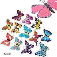 Бабочка декоративная без крепления / 0608-4 /6912-4/ Выписывать кратно 5-ти шт.