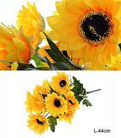 Цветок искусственный Подсолнух букет / WH-2 /уп 150/