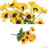 Цветок искусственный Подсолнух букет 29 см / WH-1 /уп 400/1200/