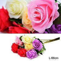 Цветок искусственный Роза 68 см / 0341-43 /уп 500/2000/