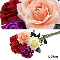 Цветок искусственный Роза 69 см / 0341-51 /уп 700/