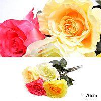 Цветок искусственный Роза 76 см / 0341-48 /уп 300/600/