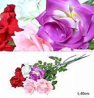 Цветок искусственный Роза 80 см / 0341-46 /уп 10/100/600/
