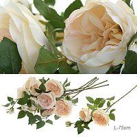 Цветок искусственный Роза пионовидная 75 см / L20680/CR /уп 12/48/