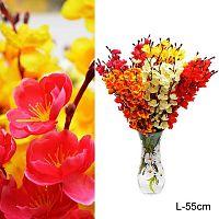 Цветок искусственный Сакура 55 см / 0341-74 /уп 150/600/ цвет микс