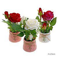 Цветочная композиция Роза / H-2 /уп 72/