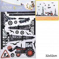 Наклейка декоративная 32х52 см / GG-003 /