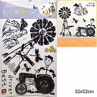 Наклейка декоративная 32х52 см / GG-006 /