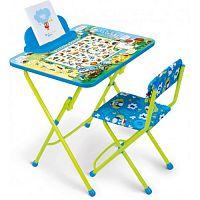 Комплект детской мебели НИКА КУ2/ВА Веселая Азбука, стол 58см, стул мягкий
