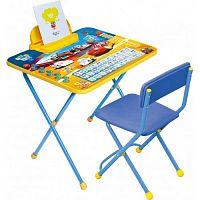Комплект детской мебели НИКА Disney2 Д2Т Тачки, стол 58см, пенал, стул мягкий