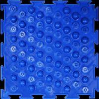"""Орто-коврик """"Акупунктурный"""" жесткий синий 1шт 25см*25см модульный коврик Орто (ОРТОДОН)"""