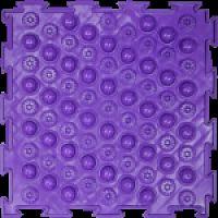 """Орто-коврик """"Акупунктурный"""" жесткий фиолетовый 1шт 25см*25см модульный коврик Орто (ОРТОДОН)"""