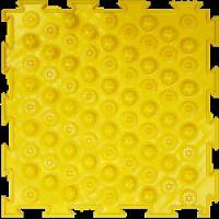 """Орто-коврик """"Акупунктурный"""" жесткий желтые 1шт 25см*25см модульный коврик Орто (ОРТОДОН)"""