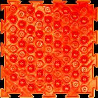 """Орто-коврик """"Акупунктурный"""" мягкий оранжевый 1шт 25см*25см модульный коврик Орто (ОРТОДОН)"""